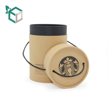 High Quality Wholesale Custom Logo Black Ink Kraft Paper Glass Coffee Cup Packaging Tube Boxes